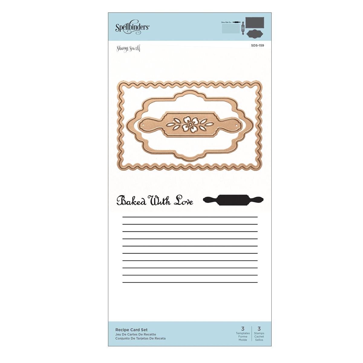 Stamp & Die Set, Recipe Card Set