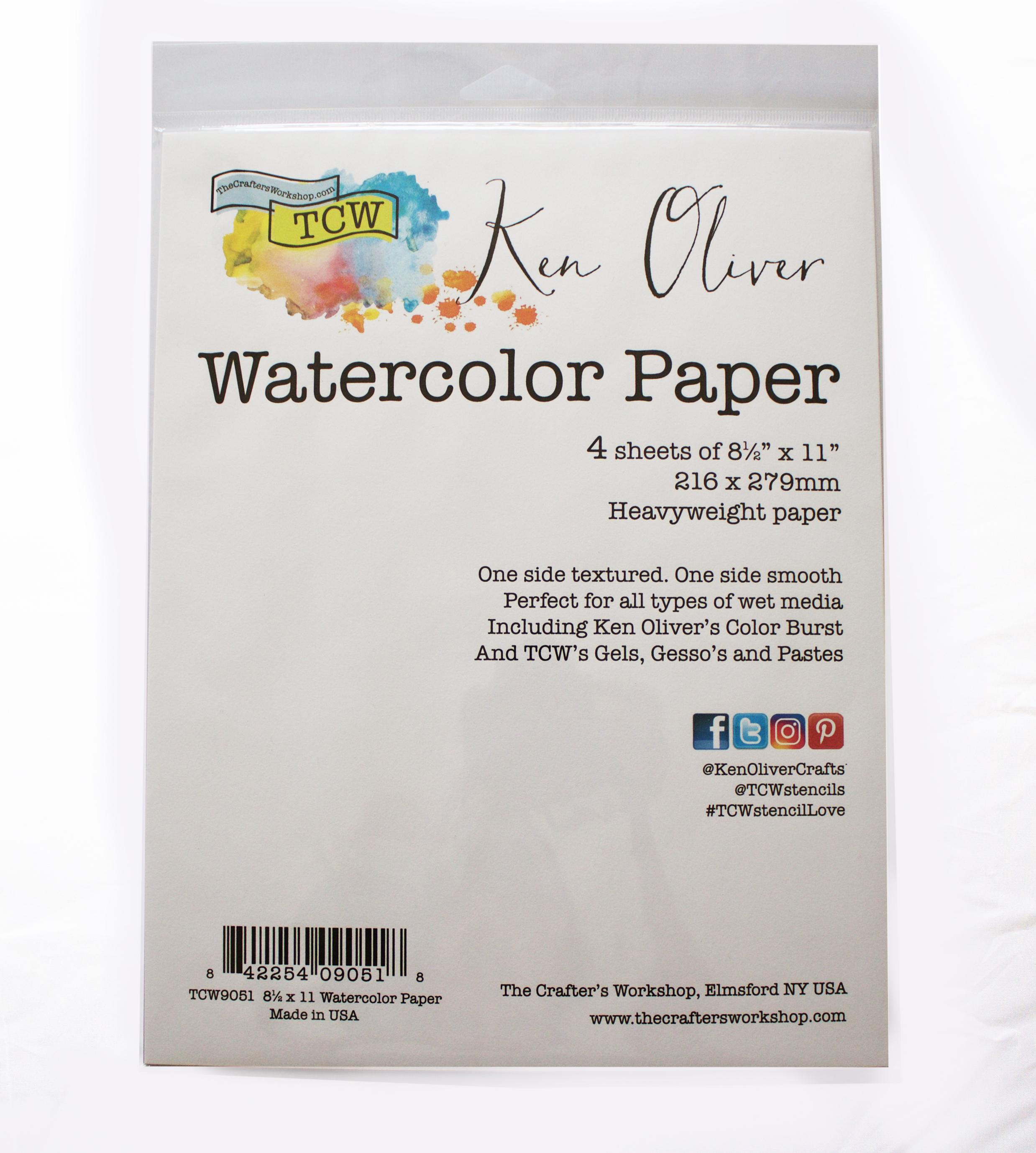 8.5X11 Watercolor Paper Pack