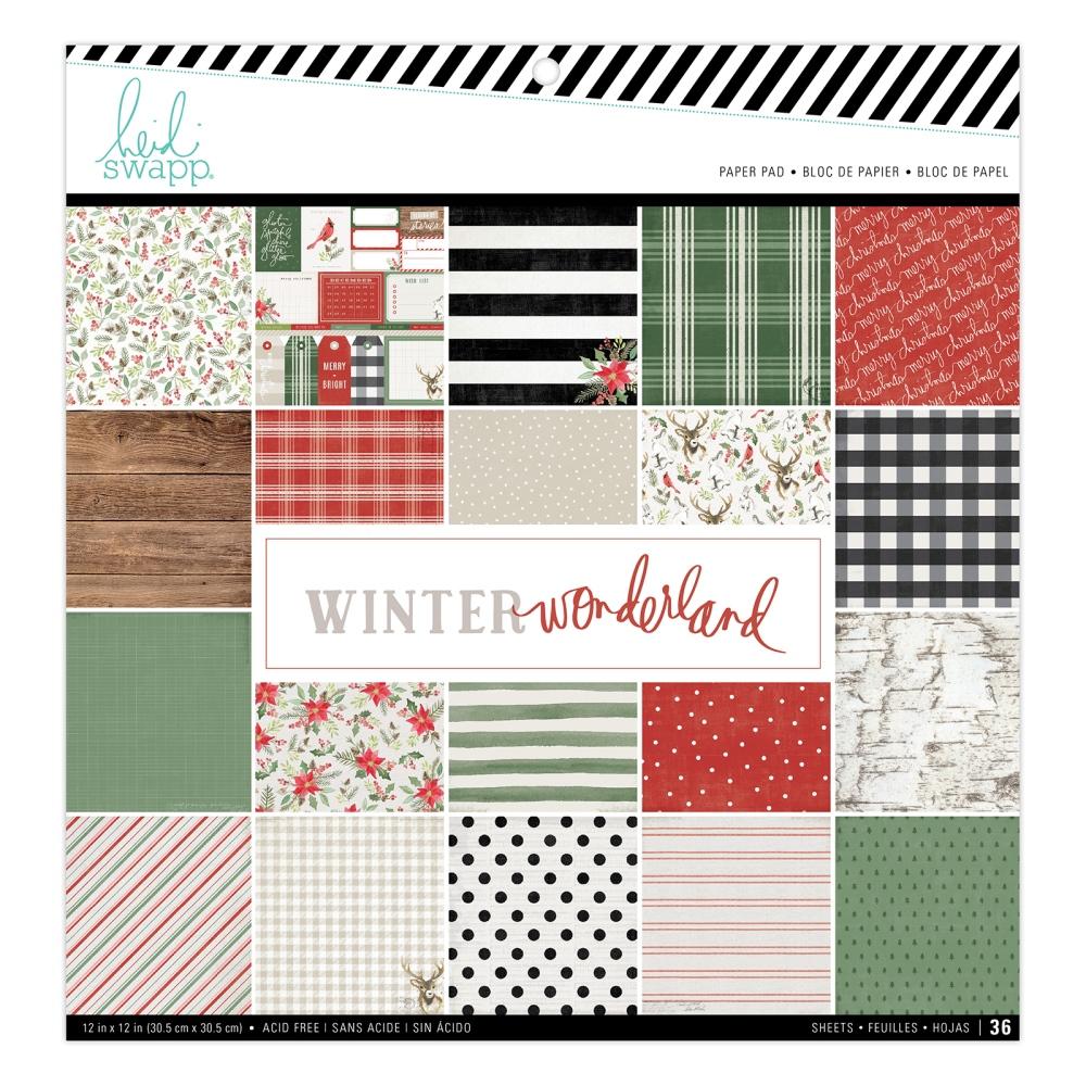 12X12 Paper Pad, Winter Wonderland