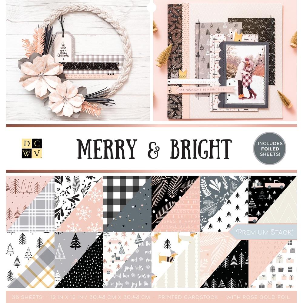 12X12 Premium Stack, Christmas - Merry & Bright