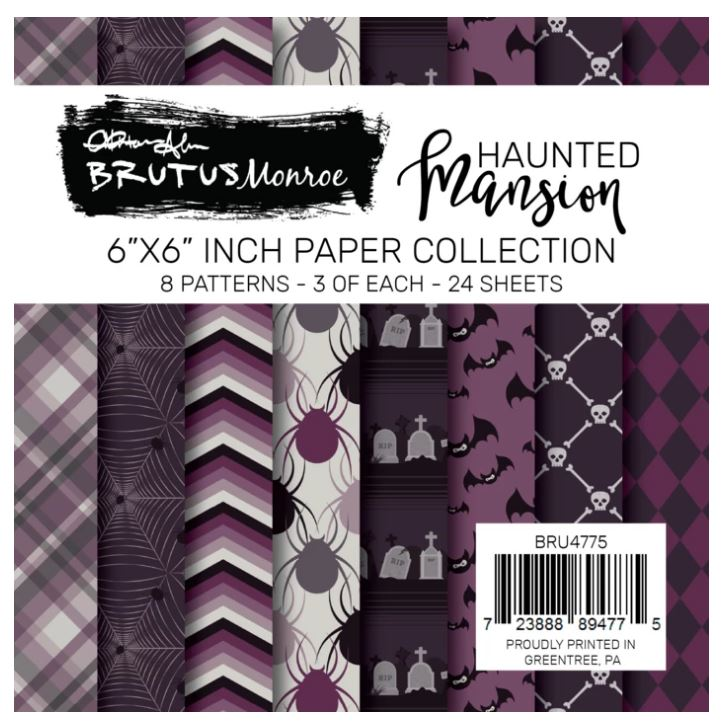 6X6 Paper Pad, Haunted Mansion