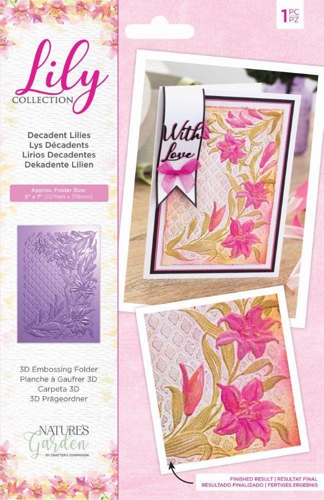 Nature's Garden 3D Emb. Folder, Lily - Decadent Lilies