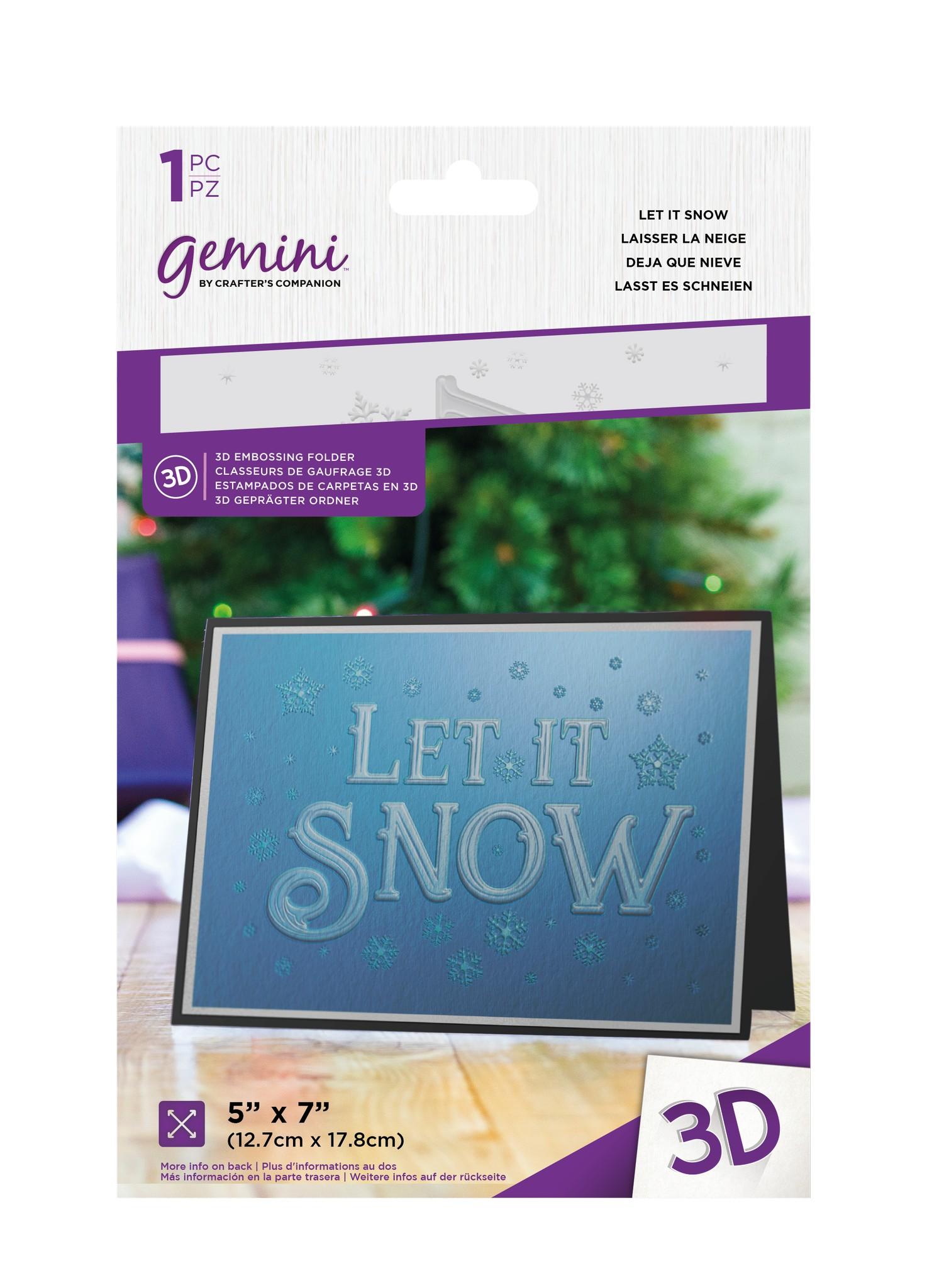Gemni Embossing Folder, Let It Snow