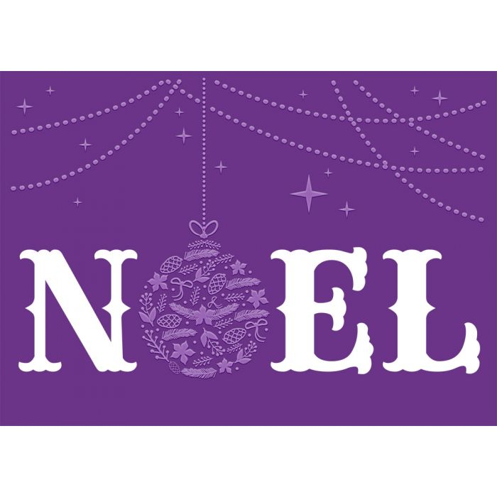 Crafter's Companion Cut & Emboss Folder, Christmas Words- Noel