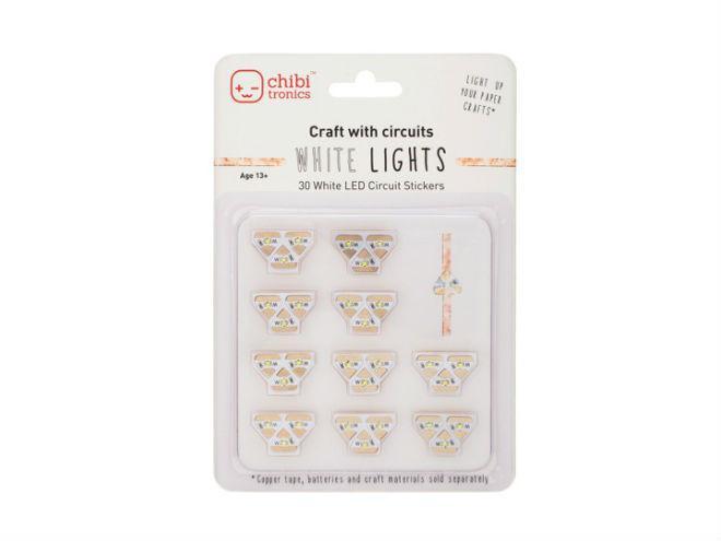 Chibitronics White LED Mega Pack