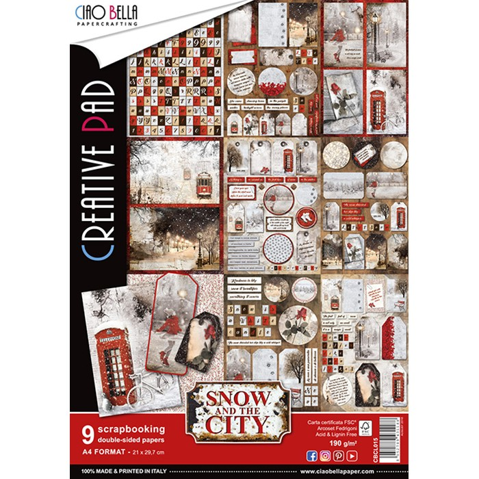 A4 Creative Pad, Snow and the City (9/pkg)