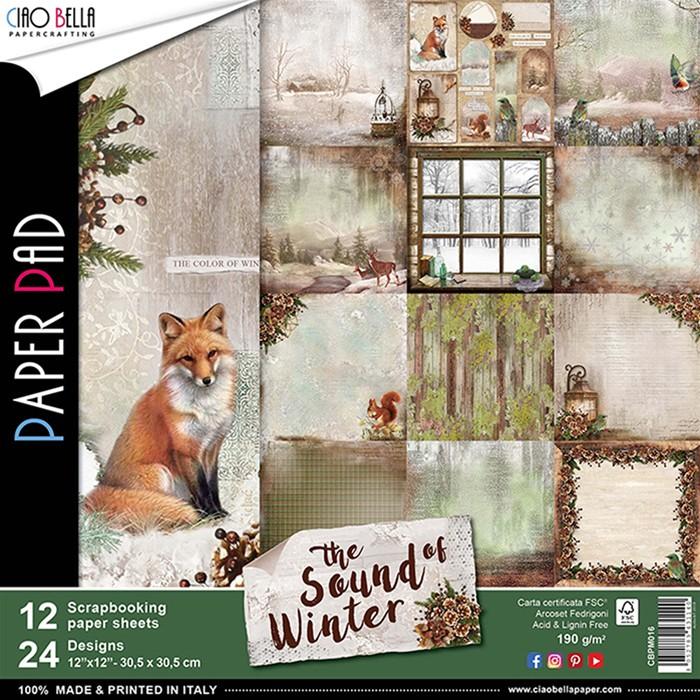 12X12 Paper Pad, Sound of Winter (12/Pkg)