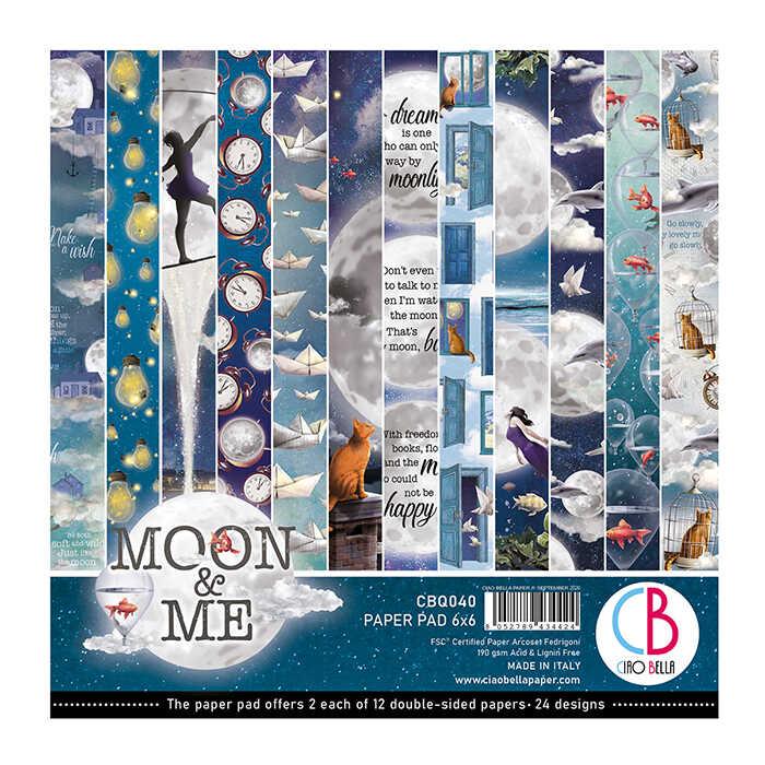 6X6 Paper Pad, Moon & Me