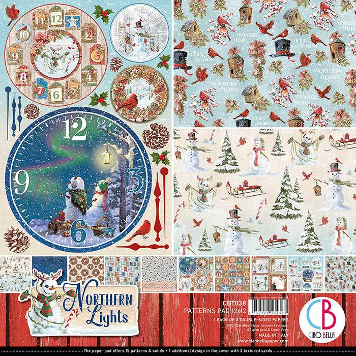 12X12 Patterns Paper Pad, Northern Lights