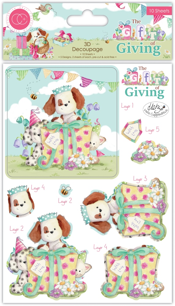 3D Decoupage Set, The Gift of Giving