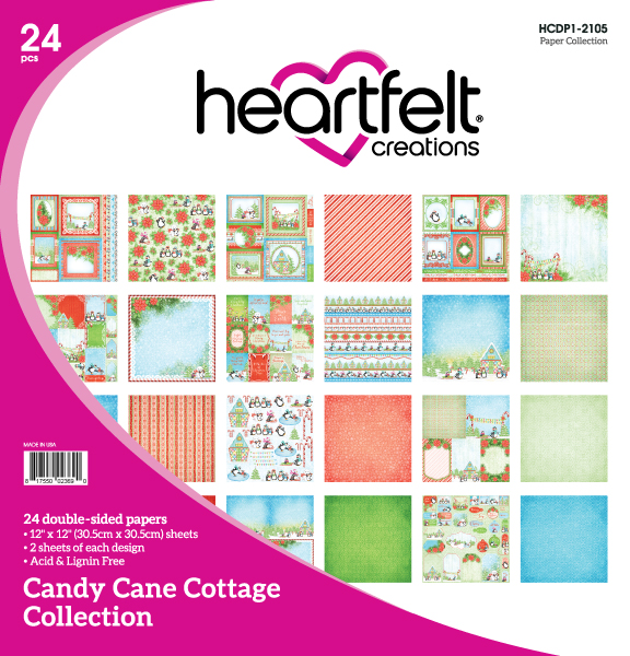 12X12 Paper Collection, Candy Cane Cottage