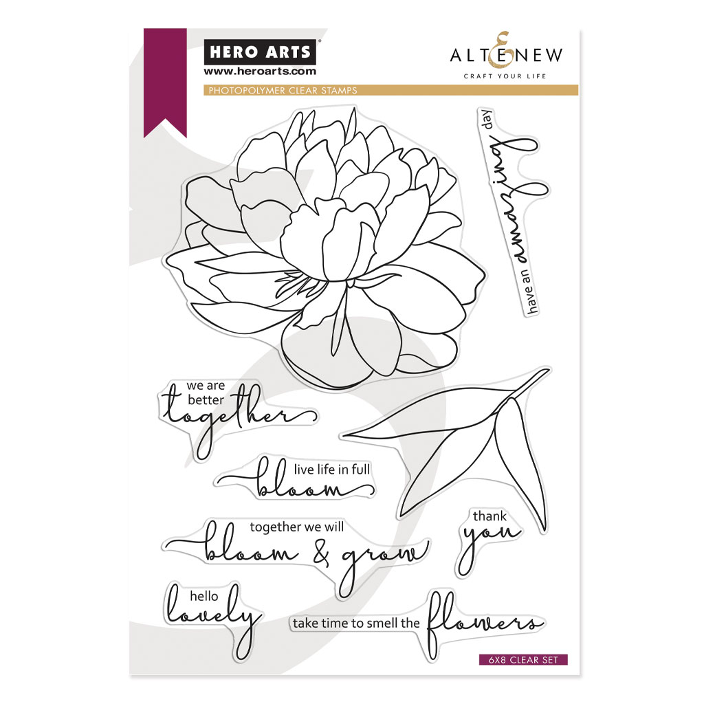 Clear Stamp, HA + Altenew - Bloom & Grow