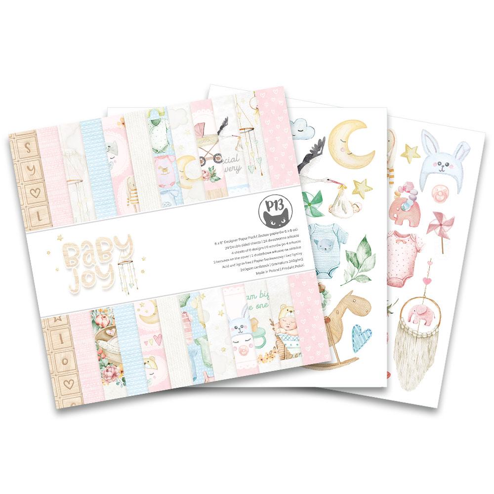 6X6 Paper Pad, Baby Joy
