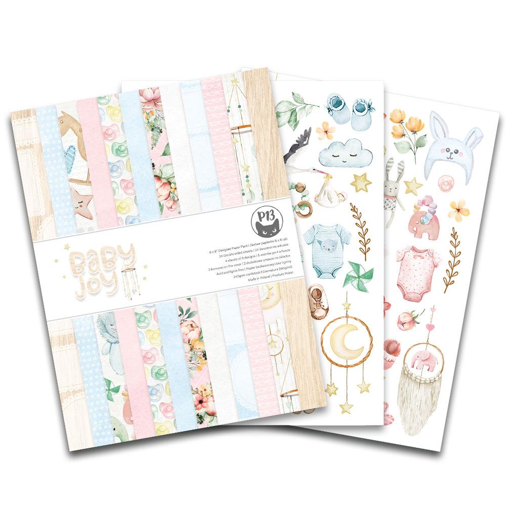 6X8 Paper Pad, Baby Joy