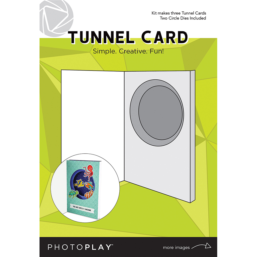 Card, Maker's Series - Tunnel W/Circle Die (3pc)