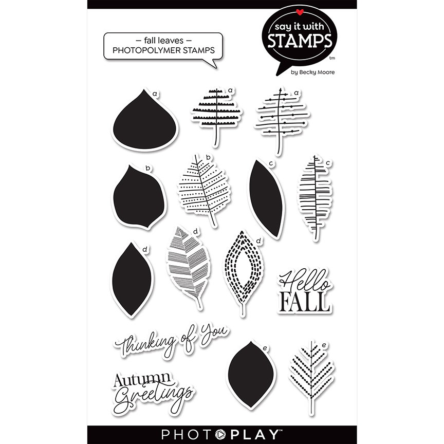 Clear Stamp, Say It With Stamps - Fall leaves