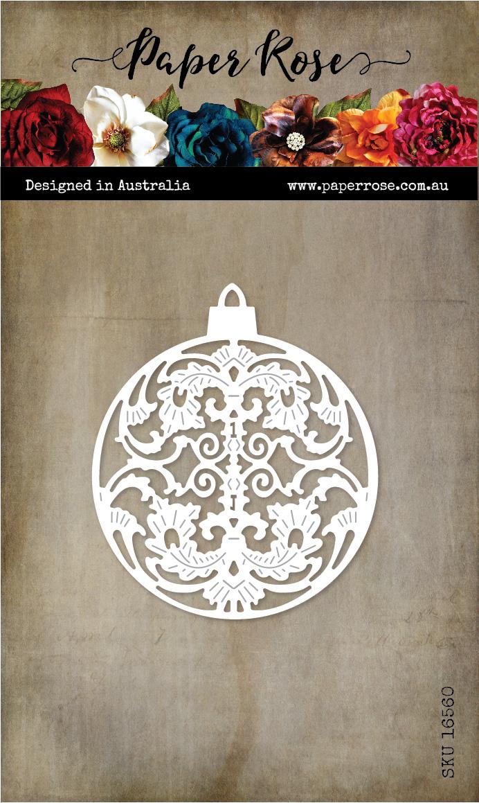 Die, Ornate Christmas Bauble Large