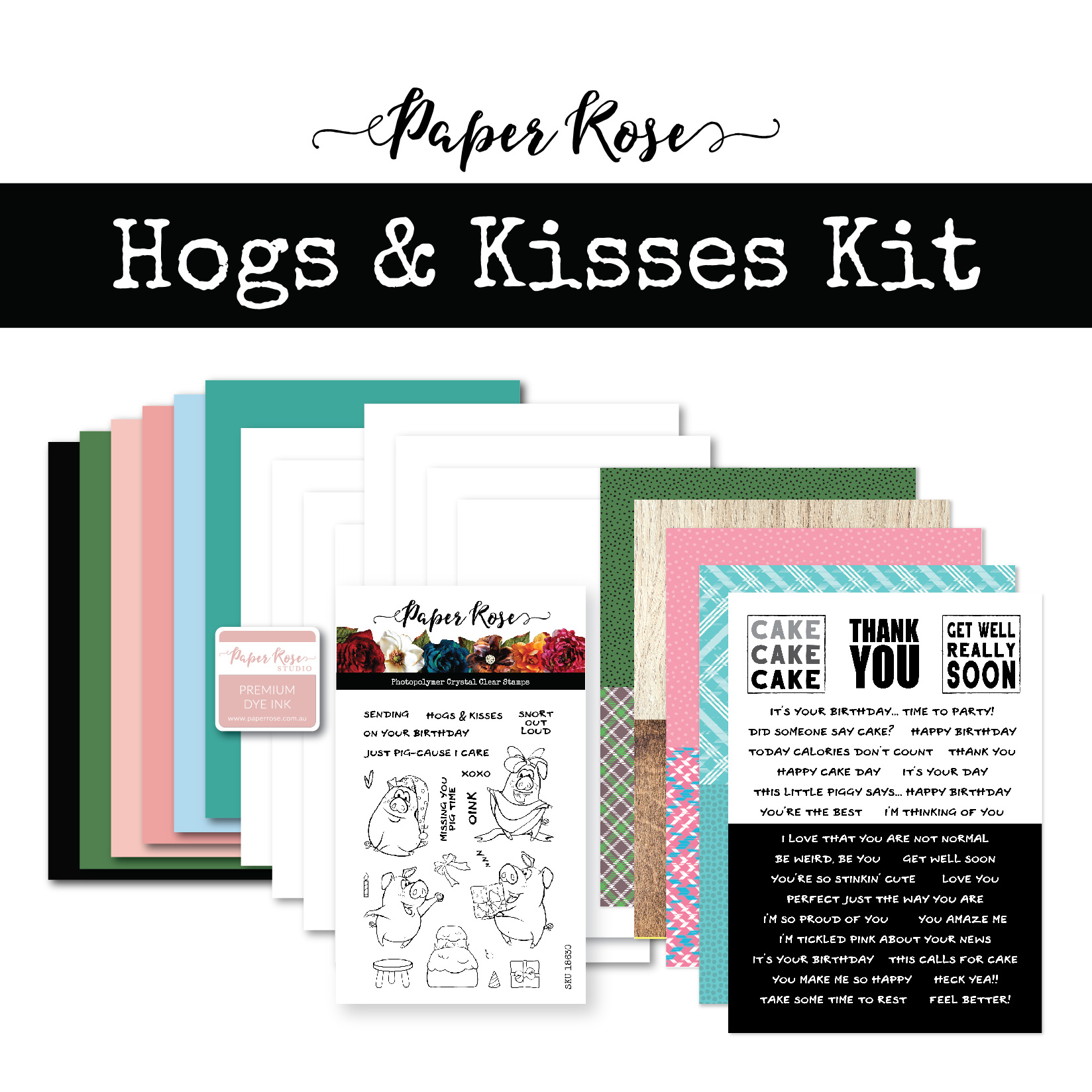 Cardmaking Kit, Hogs & Kisses