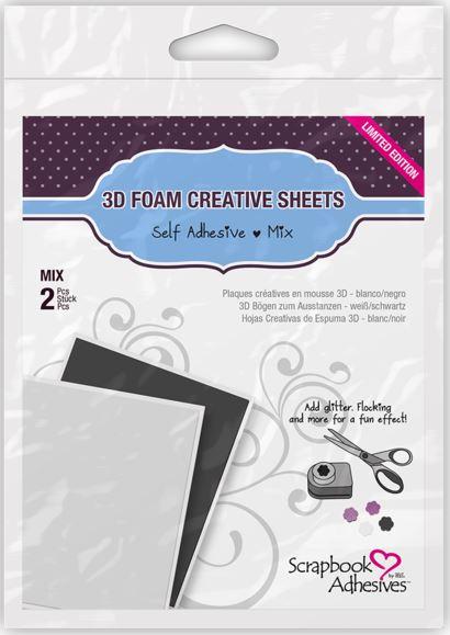 3D Foam, Creative Sheets (4x5)