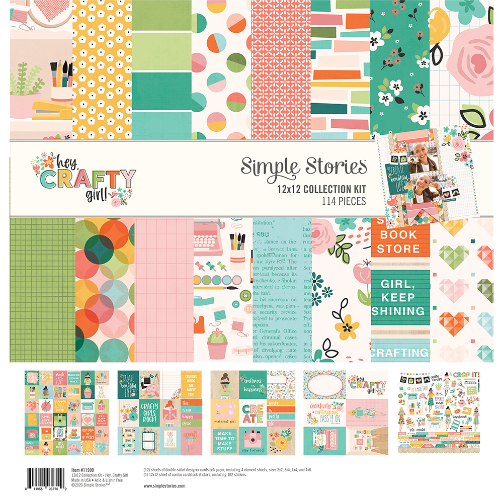 12X12 Collection Kit, Hey Crafty Girl
