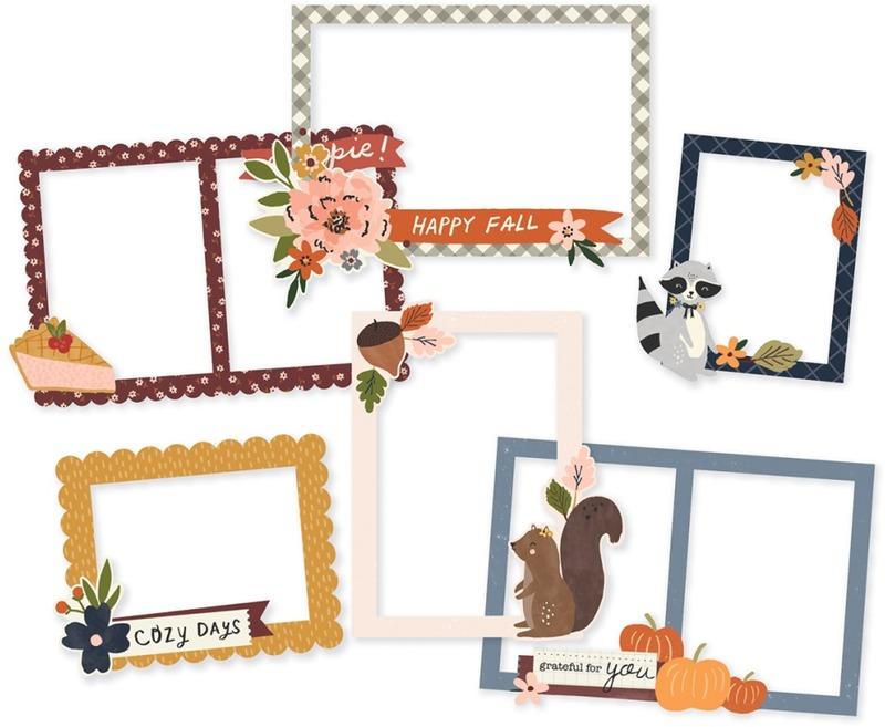 Chipboard Frames, Cozy Days