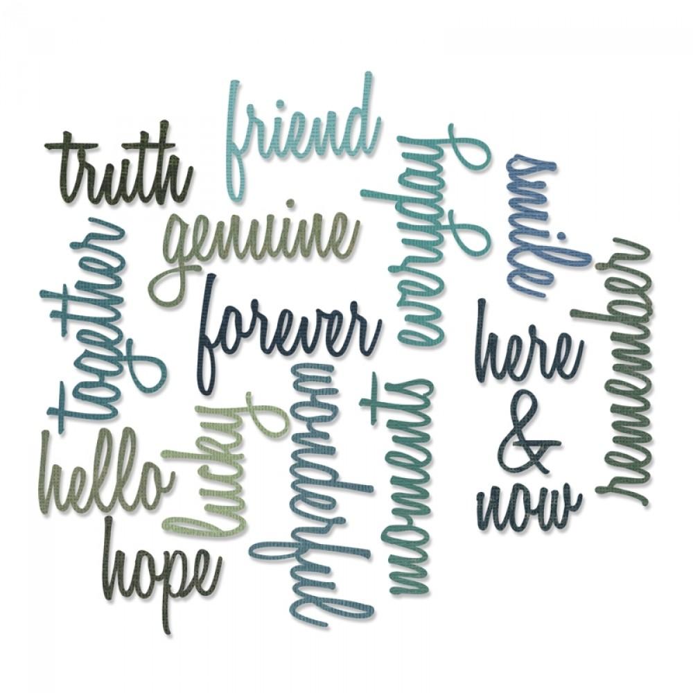 Thinlits Die, Tim Holtz, Friendship Words: Script 16pk