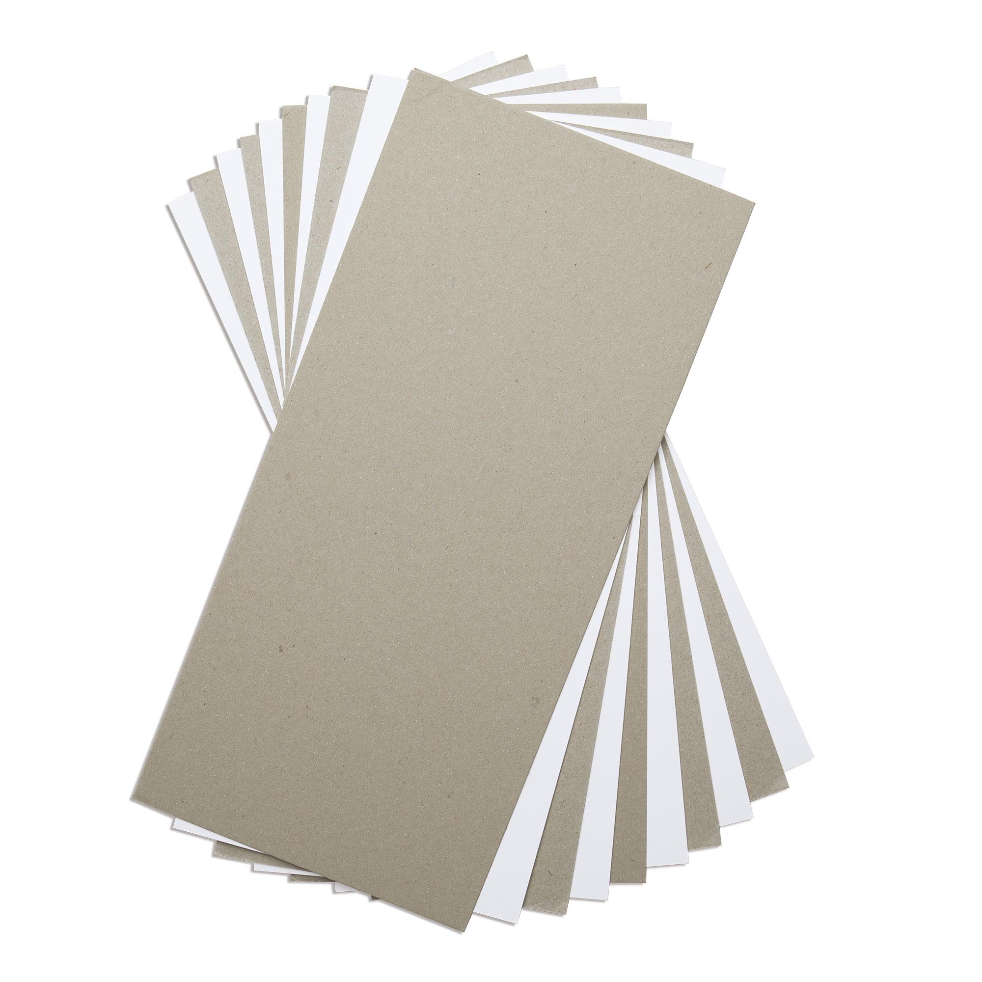 6X13 Mixed Media Board, White & Gray (10pk)