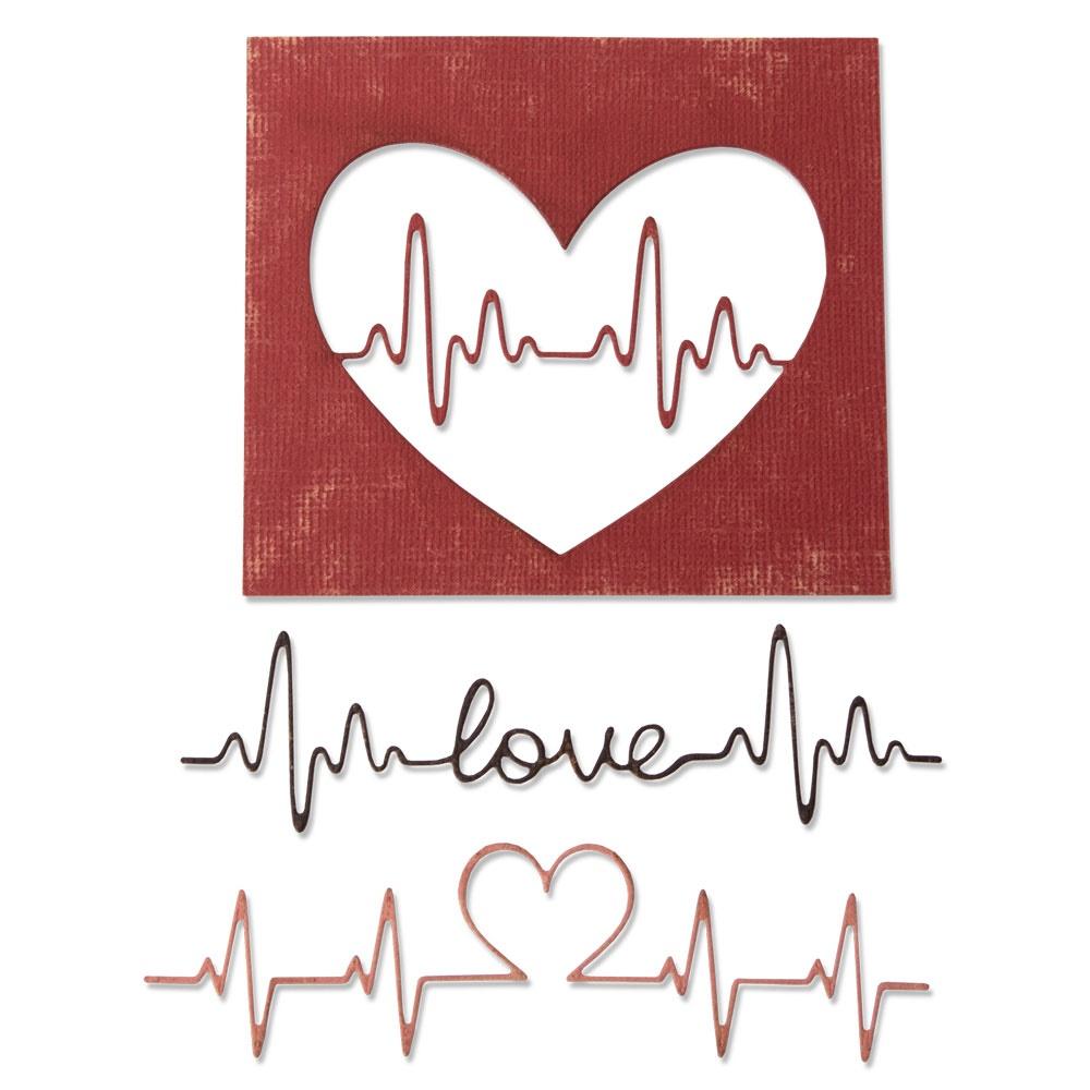 Thinlits Die Set, Heartbeat (3pk)