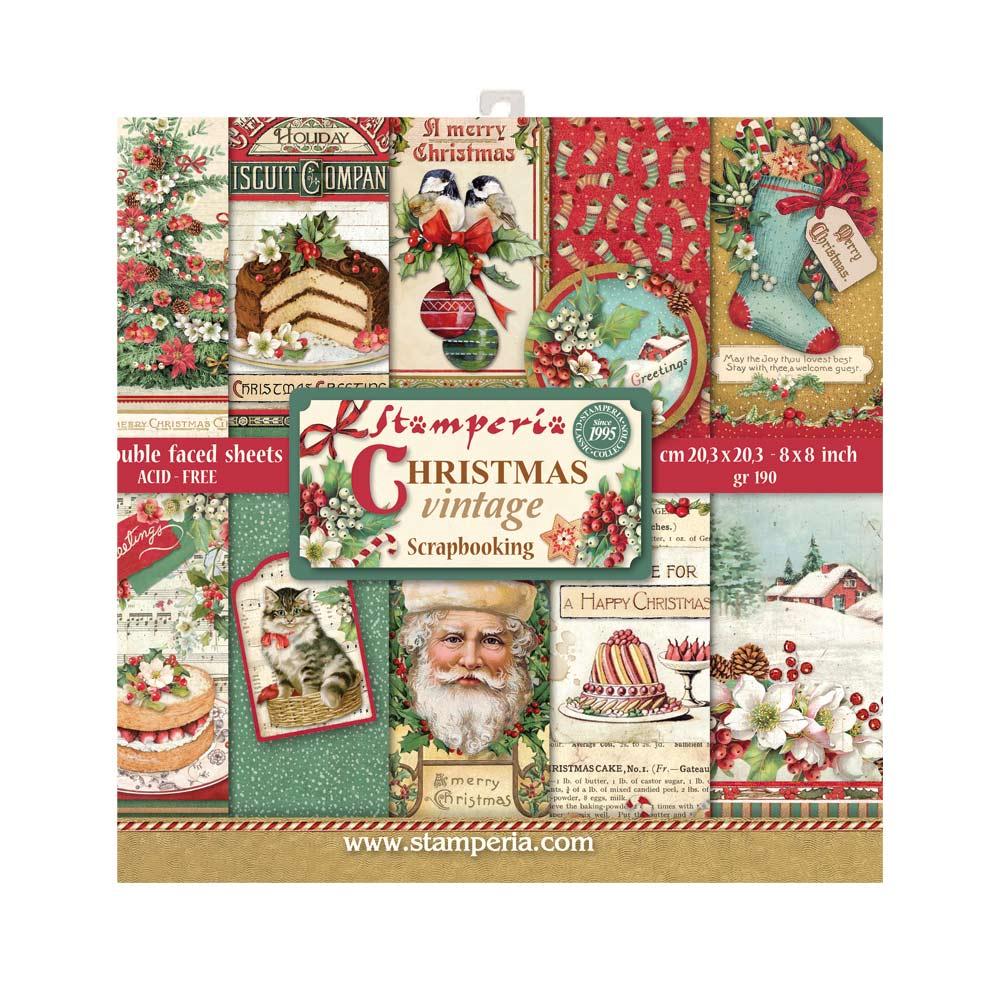 20.3X20.3cm (8X8) Paper Pad, Christmas Vintage