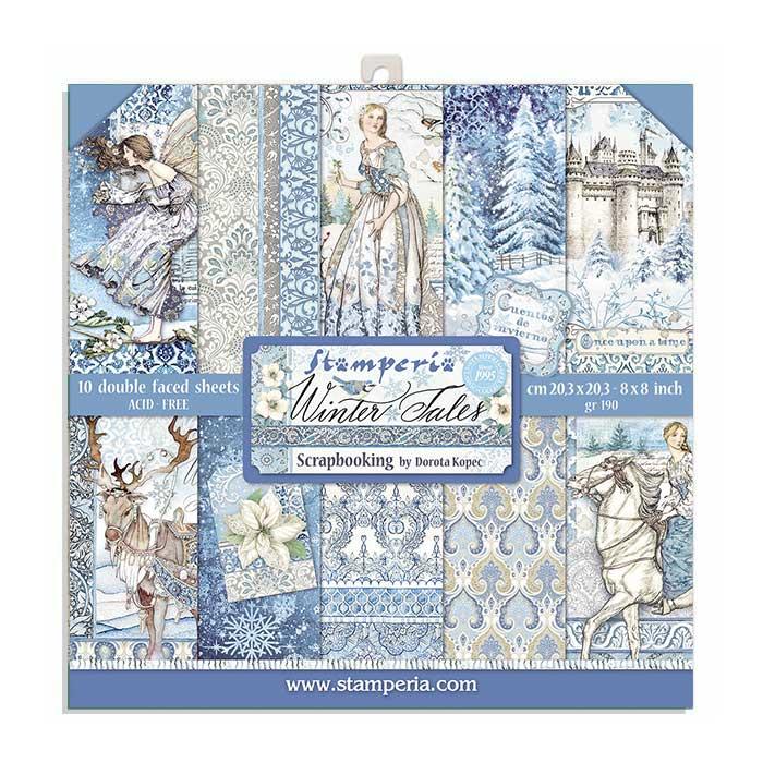 20.3X20.3 (8X8) Paper Pad, Winter Tales