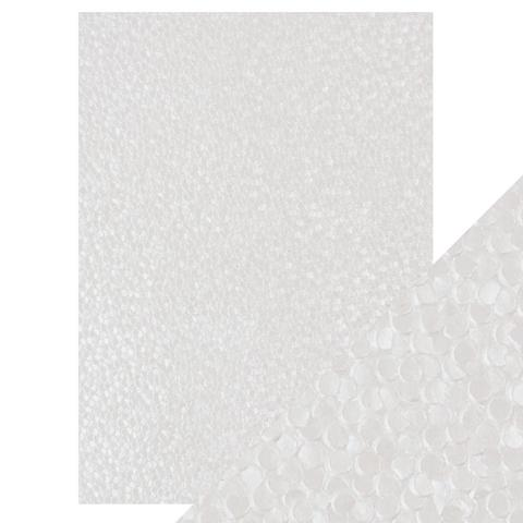 A4 Embossed Cotton Paper, Snowdrop Meadow - 5Pk