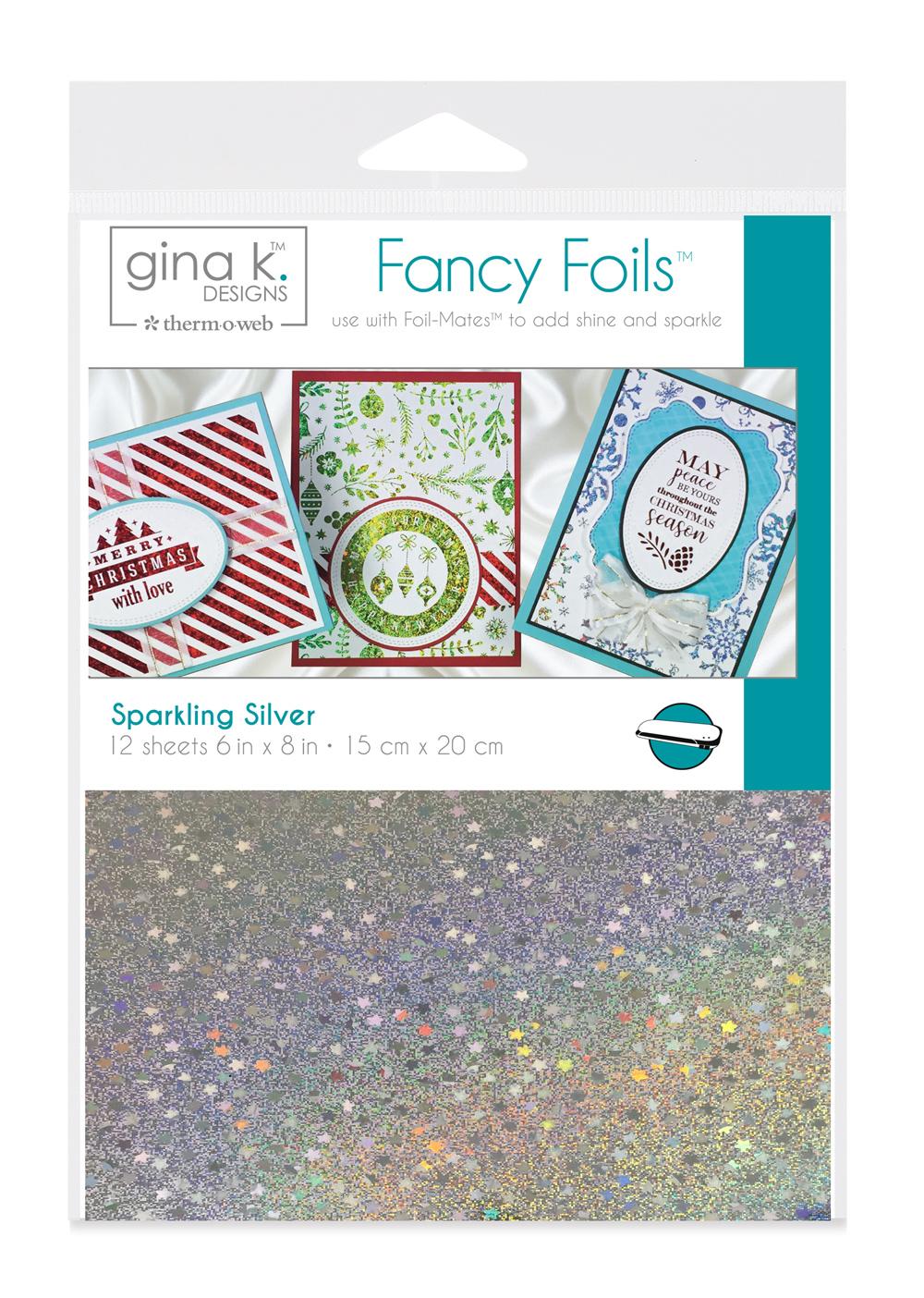 6X8 Fancy Foils, Sparkling Silver