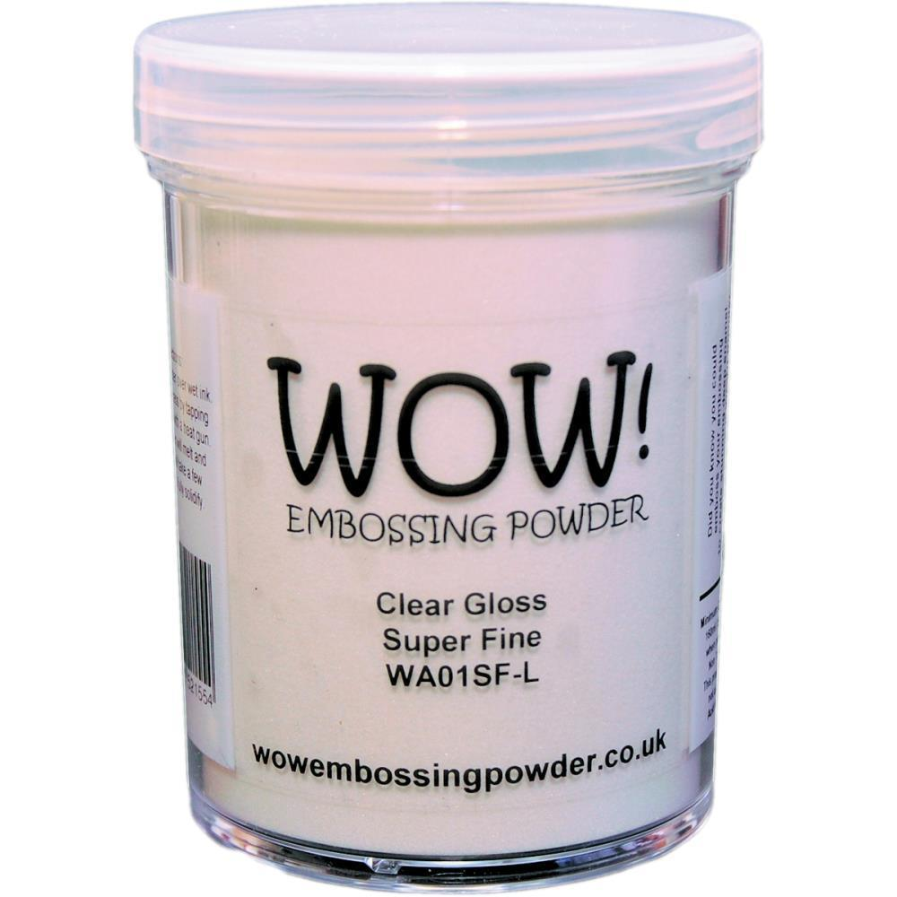 Clear Gloss Embossing Powder, Super Fine (Large Jar)