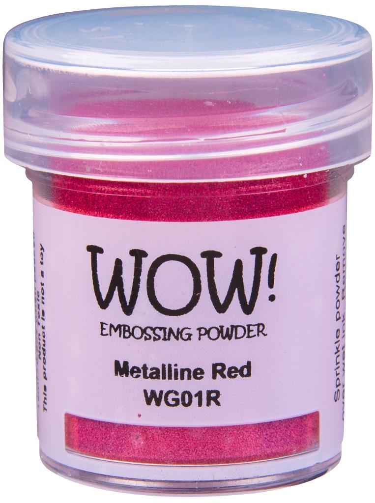 Metalline Embossing Powder, Regular - Red