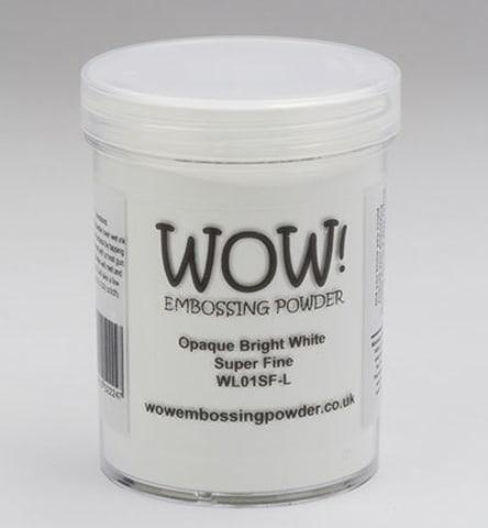 Opaque White Embossing Powder, Super Fine - Bright (Large Jar)