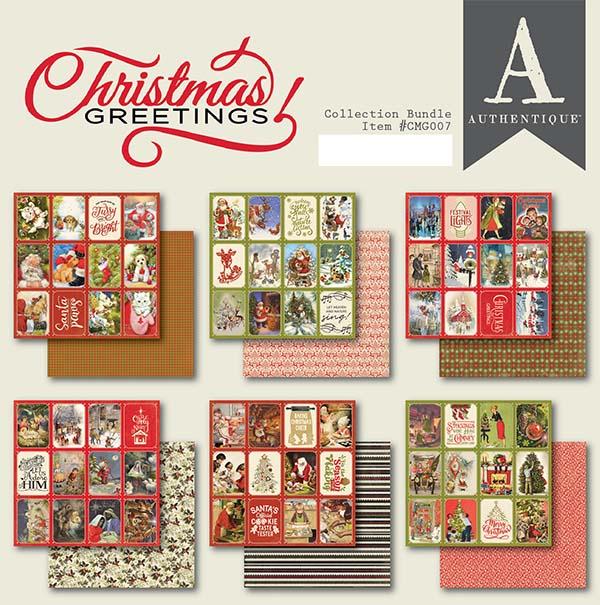 6X6 Paper Pad, Christmas Greetings