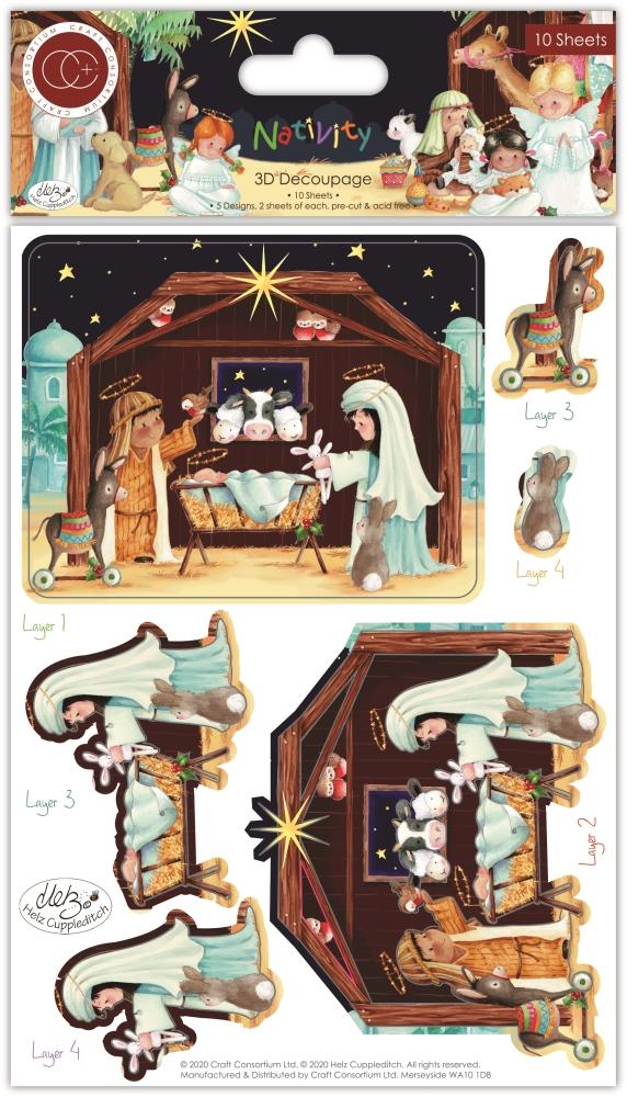 3D Decoupage Set, Nativity