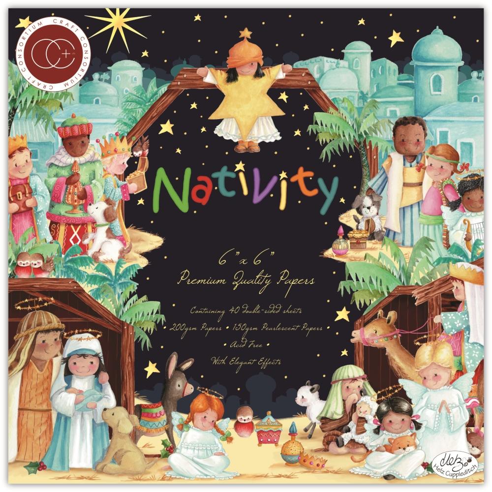 6X6 Paper Pad, Nativity