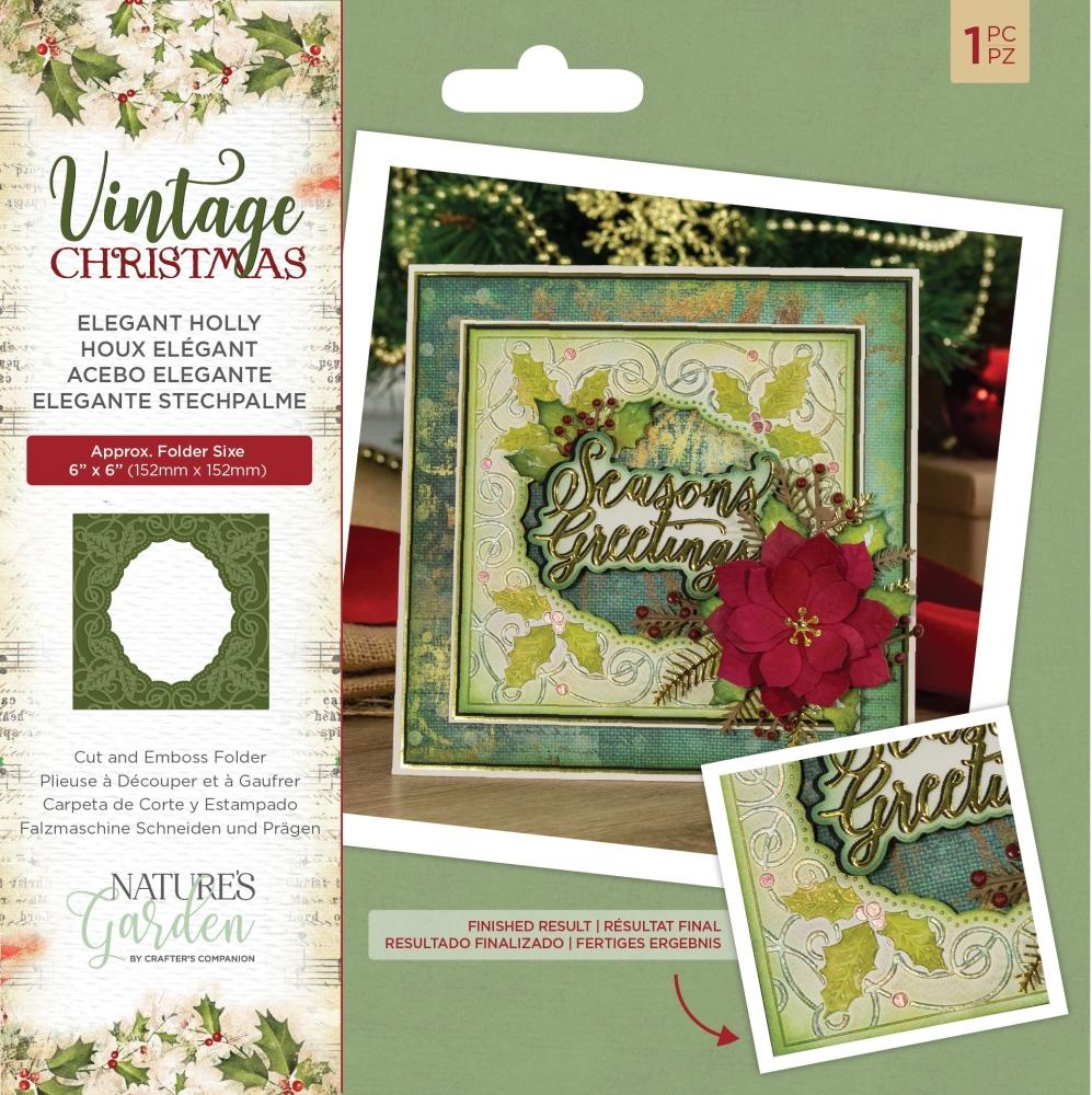 Nature's Garden Cut & Emboss Folder, VC - Elegant Holly