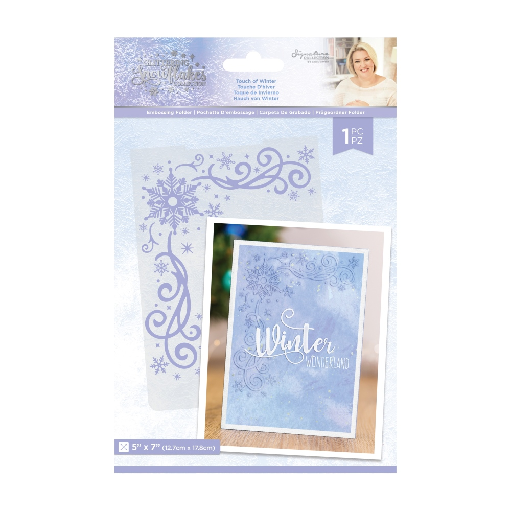 Sara Signature Embossing Folder, GS - Touch of Winter
