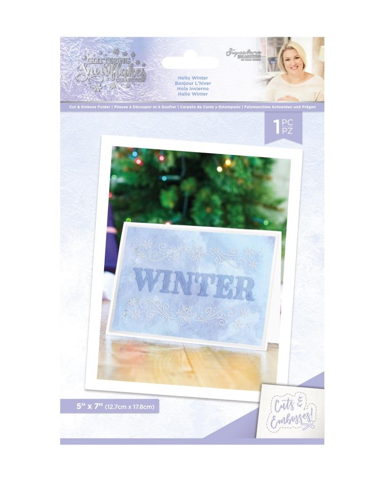 Sara Signature Cut & Emboss Folder, GS - Hello Winter