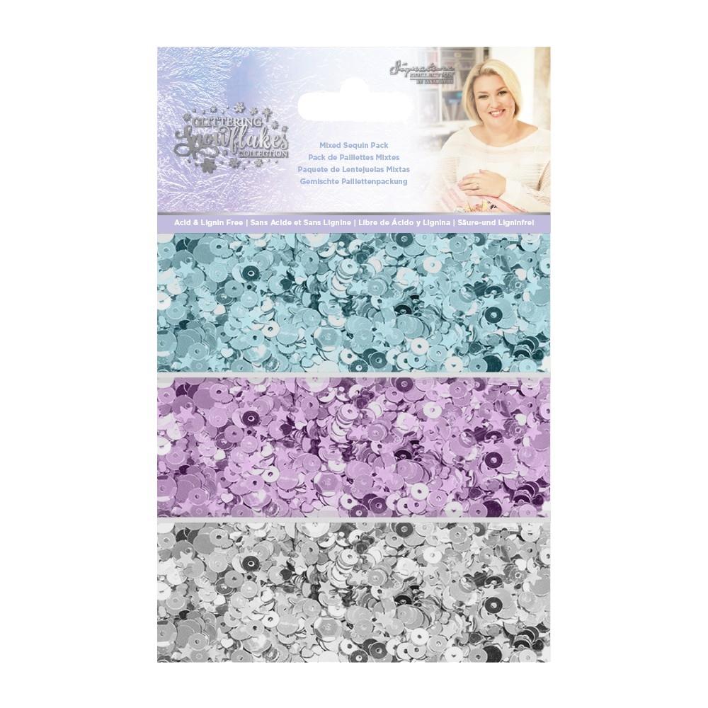 Sara Signature Mixed Sequin Pack, Glittering Snowflakes