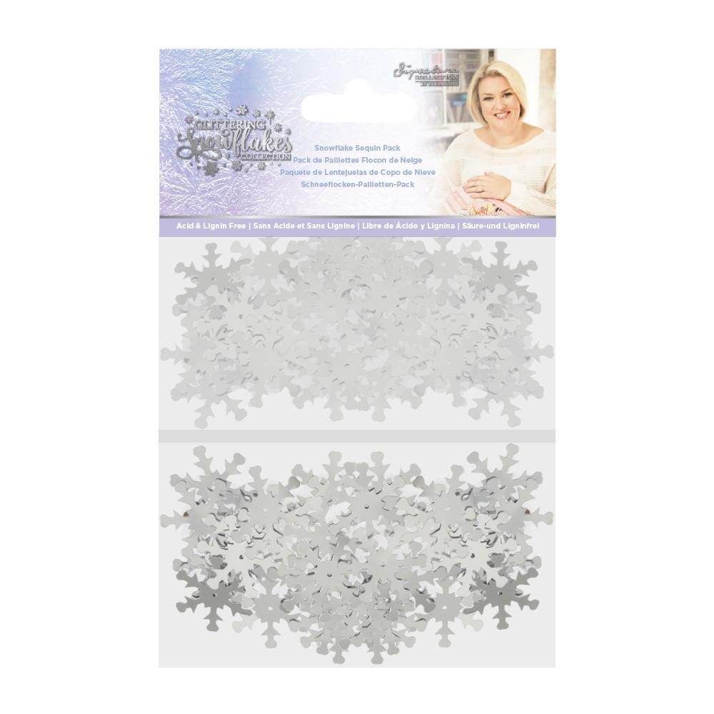 Sara Signature Snowflake Sequin Pack, Glittering Snowflakes