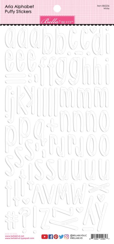 Puffy Stickers, Aria Alpha - White