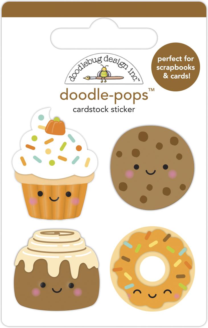 Doodle-pops 3D Cardstock Sticker, Pumpkin Spice - Fall Treats