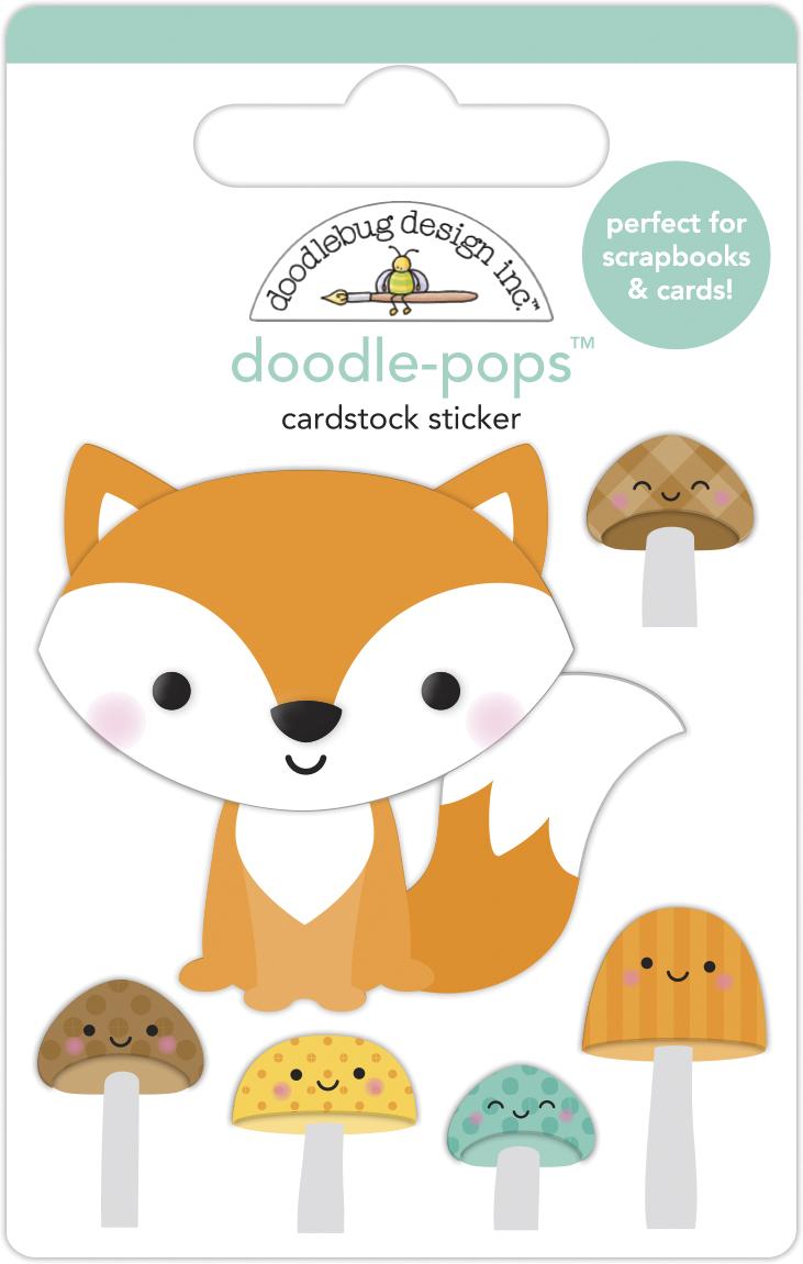 Doodle-pops 3D Cardstock Sticker, Pumpkin Spice - Fox & Friends