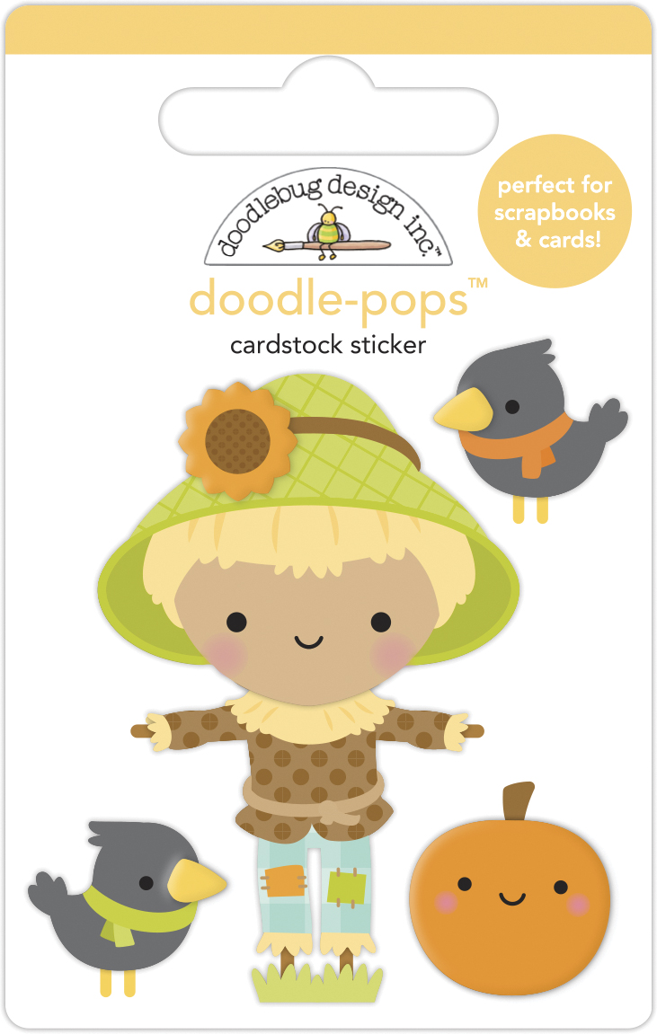 Doodle-pops 3D Cardstock Sticker, Pumpkin Spice - Hay There