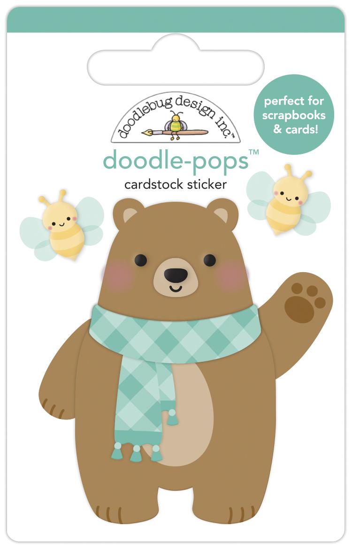 Doodle-pops 3D Cardstock Sticker, Pumpkin Spice - Beary Cute