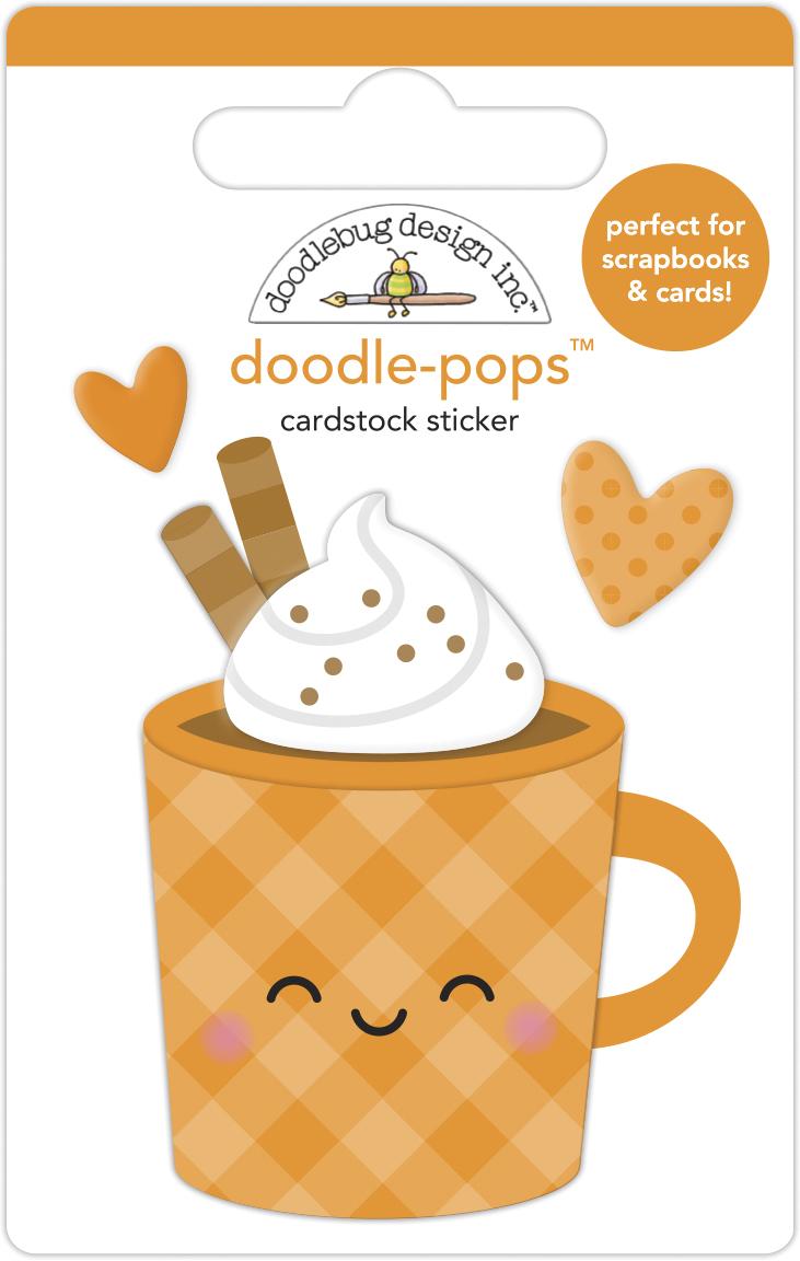 Doodle-pops 3D Cardstock Sticker, Pumpkin Spice - Pumpkin Spice