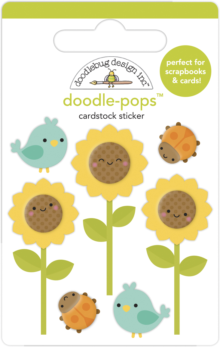 Doodle-pops 3D Cardstock Sticker, Pumpkin Spice - Sunflowers